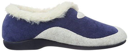 Florett Mia - Pantuflas cálidas con forro Mujer Azul - Blau (Marine 25)