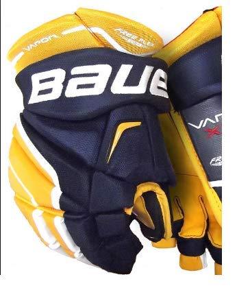Bauer Vapor X80 Junior Hockey Gloves, 10 Inch, Navy/Gold