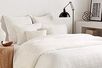 DKNY Donna Karan Bedding City Pleat King White Duvet/Comforter Cover