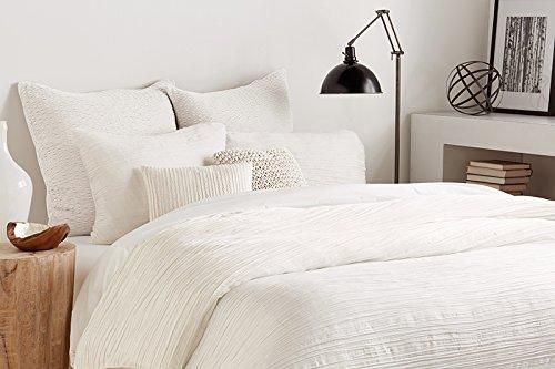 (DKNY Donna Karan Bedding City Pleat King White Duvet/Comforter Cover)