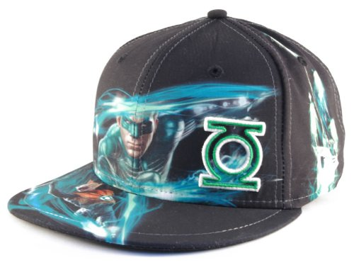 9d9405d01a6f8 New Era 59Fifty Light All Over Green Lantern Fitted Cap (7 3 8) at ...