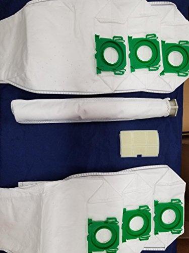 SEBO Windsor Windsor Sensor HEPA Type Vacuum Bags 6 Pack Plus 2 (Sebo Hepa Vacuum)