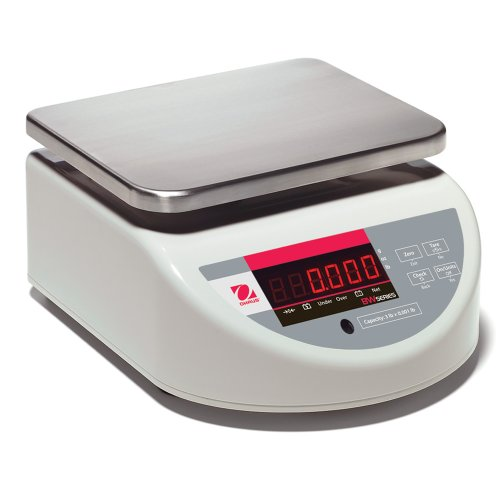 Bench Compact Washdown - Ohaus BW ABS Plastic Washdown Compact Bench Scale with Single Display, 3000g x 1g