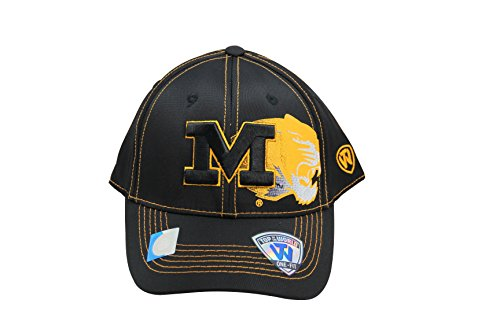 NCAA Top of the World Missouri Tigers One-Fit Flex Fit Logo Cap Hat]()