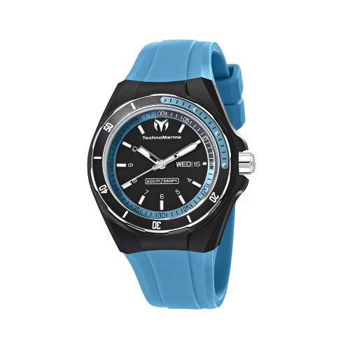 technomarine-unisex-110014-cruise-sport-3-hands-black-and-blue-dial-watch