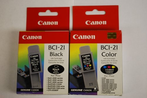 Canon BCI-21 Genuine Canon Brand **Combo Pack** 1 Color & 1 ()