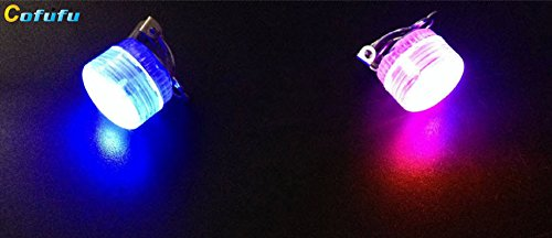Cofufu 6PCS LED Earrings - Multicolor Bright Stylish Fashion Earrings (Pin Necklace Flashing)
