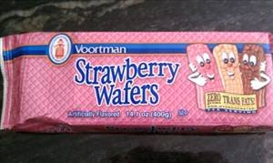 SUGAR WAFERS COOKIES VOORTMAN BRICK PACK STRAWBERRY 12.3 OZ