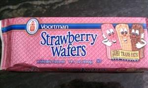 SUGAR WAFERS COOKIES VOORTMAN BRICK PACK STRAWBERRY 12.3 OZ (Strawberry Wafers)