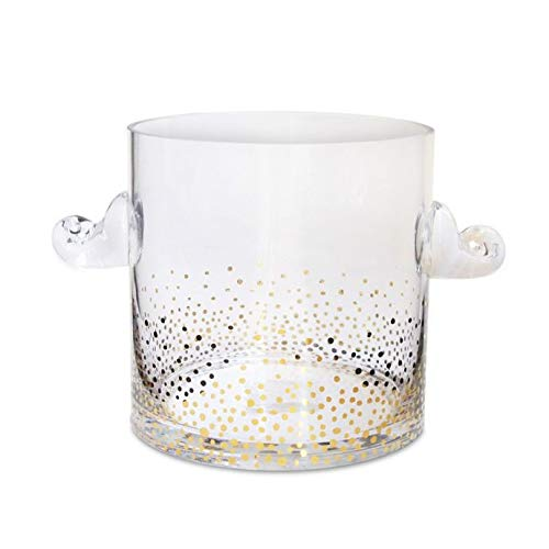 Contemporary And Elegant Luster Ice Bucket in Gold