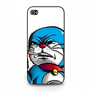 Doraemon Smoking Cool Fashion Hard Phone Case for Iphone 5/5S