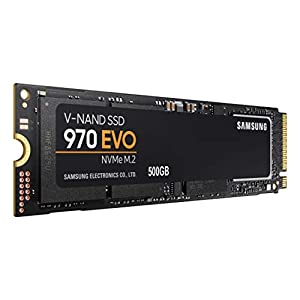 Samsung 970 Evo 500GB NVME M.2 High Speed Solid State Drive with V-Nand