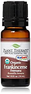 Plant Therapy USDA Certified Organic Frankincense Frereana Essential Oil. 100% Pure, Undiluted, Therapeutic Grade. 10 ml (1/3 oz).