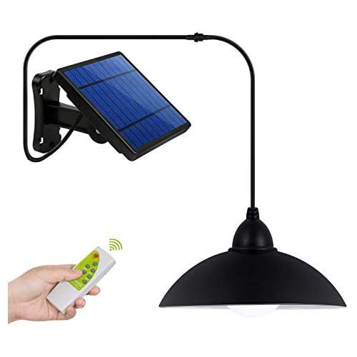 chollos oferta descuentos barato Luz Solar Instalación de Separación Luz del Sensor Solar Foco Solar Sensor de Movimiento con Mando a Distancia Combinación Exterior Interior para Entrada Jardín Camino Césped
