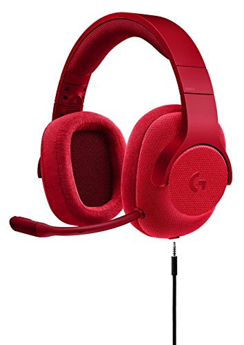 Logitech G433 7.1 Wired Gaming Headset with DTS Headphone: X 7.1 Surround for PC, PS4, PS4 PRO, Xbox One, Xbox One S, Nintendo Switch – Fire Red by Logitech
