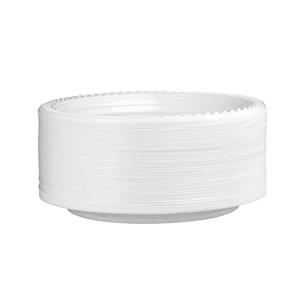 [300 Count] Plasti Plus Disposable Plastic White 7 Inch Heavy Weight Dinner Plates, Great For Weddings, Home, Office, School, Party, Picnics, Take-out, Fast Food, Outdoor, Events, Or Every Day Use, 41NwiGbGeKL