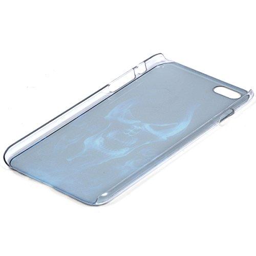 """JewelryWe Brennendes Skelett Totenkopf Handy Case Schutzhülle Tasche Hülle Rückenschutzhülle Etui Schale Cover für Apple iPhone 6 Plus(5,5"""") Schwarz Rot"""