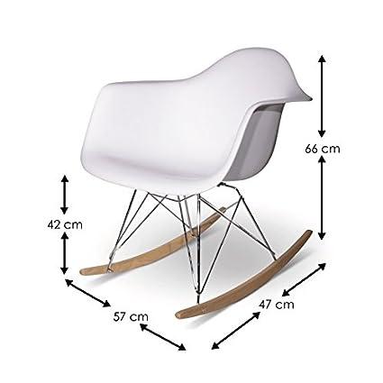 Mobistyl® MC-RARDM-1A - Silla mecedora de diseño, patas de ...