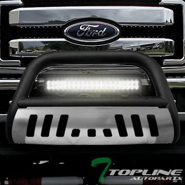 Topline For 2011-2016 F250//F350 Bull Bar Bumper Grill Grille Guard Stainless