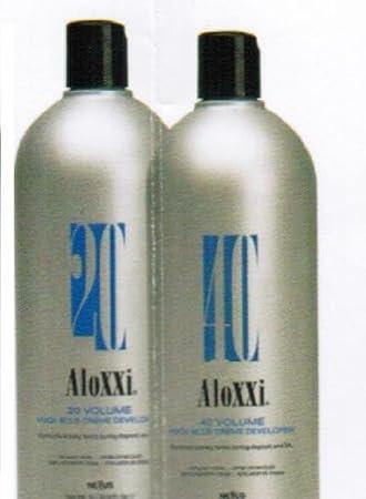 Amazon Com Nexxus Aloxxi H202 Blue Hair Color Cream Developer Liter