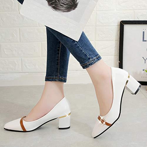 Automne Hiver 5cm Femme Blanc Shoes Casual À Talon Escarpins Chaussures Manadlian Mocassins tEqTUZEw