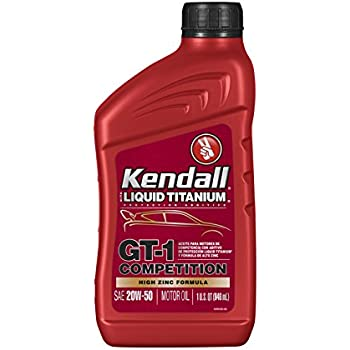 Kendall 1074969 12pk liquid titanium gt 1 for 20w 50w motor oil