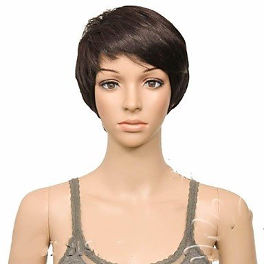 Wigs have an attractive convenience fashion Fashion Short Straight Brown Hair Synthetic Wigs for (Halloween Costumes Houston Stores)