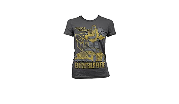Amazon.com: Transformers Officially Licensed Merchandise Bumblebee Distressed Girly T-Shirt: Clothing