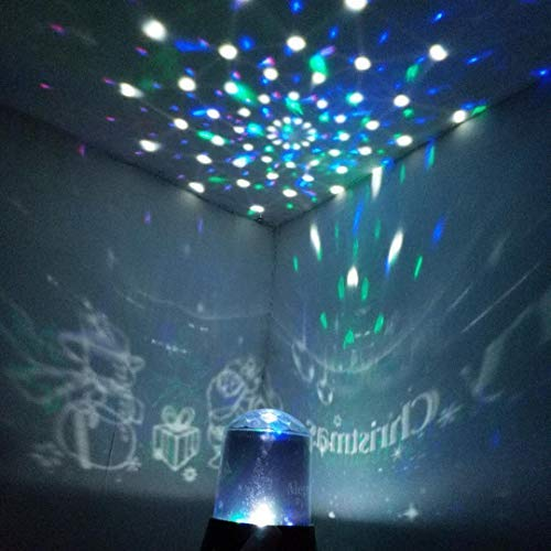 KYW LED Star Projector Night Light Amazing Light Projector for Kid Gift, Chidren Bedroom-Projector lamp for Christmas,Parties,Wedding and More (Christmas)