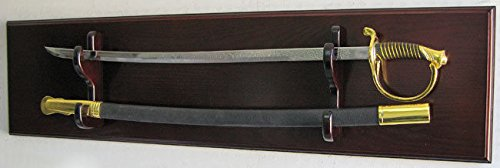 Mahogany Military Usmc Army Navy Sword Display Rack Holder Fits Most Sword by Display Case