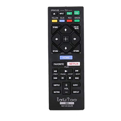 Disc Ray Player New Fit Loutoc Blu For Rmt Replaced Remote Control Vb100u Dvd Sony 1culFKT3J