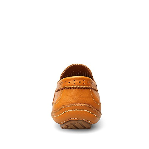 Mocassini da Scarpe da da Guida Cricket Eleganti Bare Brown Hollow Uomo Vamp r75qr01