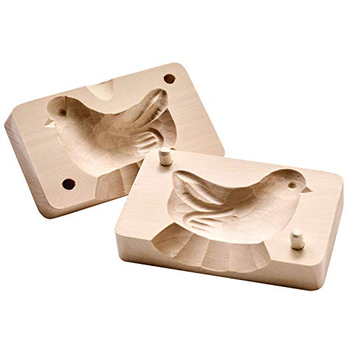 Art & Artifact Bird Shaped Butter Mold - Reshape Butter Sticks - Hand Carved in Poland