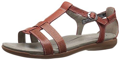 Keen - Zapatos de cordones de cuero repujado para mujer Rojo STRAP W Rojo - STRAP W