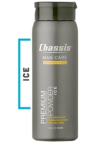 Extreme Chassis - Chassis Premium ICE Body Powder for Men - with Extra Cooling Sensation and Fresh Scent