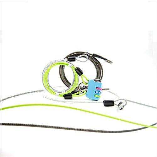 Bucle de Seguridad Ciclismo Deporte Cable de Bloqueo Pesado Deber Cuerda de Alambre para Coches Especiales