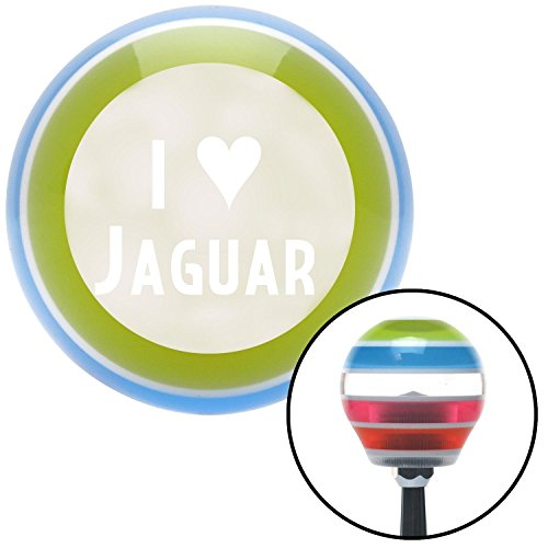 American Shifter 133296 Stripe Shift Knob with M16 x 1.5 Insert (White I <3 JAGUAR) by American Shifter