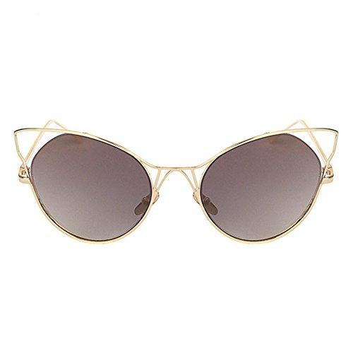 Aoligei Aucun frame gradients Ocean lunettes de soleil européens et américains grand cadre ombre miroir mode métal petit cadre huit côté Sungl Asses DbHF44dAFU