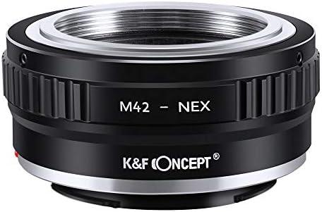 fivekim M42 Adaptateur de convertisseur dobjectif de cam/éra /à vis pour Monture Nex E Nex-5 Nex-3 Nex-Vg10 Micro Anneau Adaptateur Unique avec cl/é