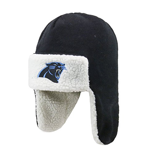 OTS NFL Carolina Panthers Breck Sherpa Hunter Knit Cap 0e72c55bb