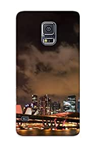 Galaxy S5 Ikey Case Cover Skin : Premium High Quality Fireworks Over Singapore Case(nice Choice For New Year's Day's Gift)