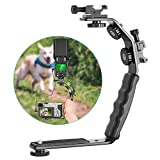 Neewer Camera Video L-Shape Flash Bracket with Dual Flash Cold Shoe Mount 1/4 inches Tripod Screw Versatile Handheld for Camera Camcorder Video Shooting and Product Photography