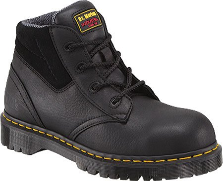 Dr. Martens Men's 7B09 Steel Toe Boots,Black,9 UK / 10 US M (Dr Martens 4 Eye)