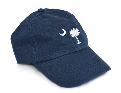 (South Carolina State Flag Low Profile Baseball Hat | South Carolinian Golf Cap Navy )