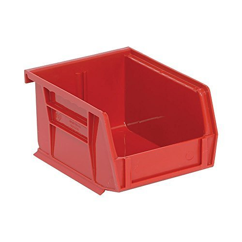 Quantum QUS210 Plastic Storage Stacking Ultra Bin, 5-Inch by 4-Inch by 3-Inch, Red, Case of 24