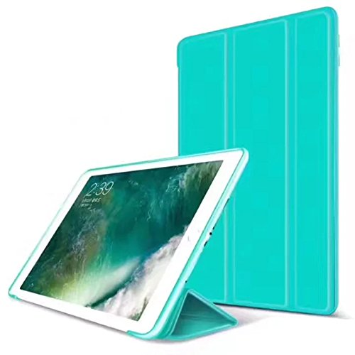 S-Tech iPad 2/3 / 4 Generation Smart Case Soft Silicone Cover Tablet Tri Fold Stand with Magnetic Smart Sleep/Wake Feature for Apple iPad Model (Mint - Ipad Mini Cover Apple Smart Green