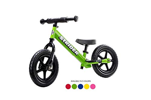 Strider ST-S4GN - 12 Sport Balance Bike, Ages 18 Months to 5 Years, Green (Sports For Toddlers)