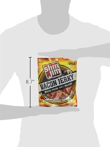 Slim Jim Bacon Jerky, Maple, 2.75 Ounce