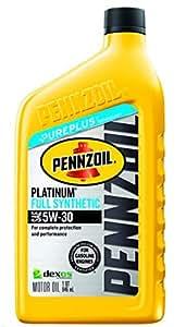 Pennzoil 550022689 5w 30 platinum full for Pennzoil full synthetic motor oil