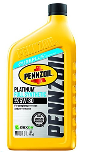 Pennzoil 550022689 5W-30 Platinum Full Synthetic Motor Oil - 1 (Snow Blower Oil)